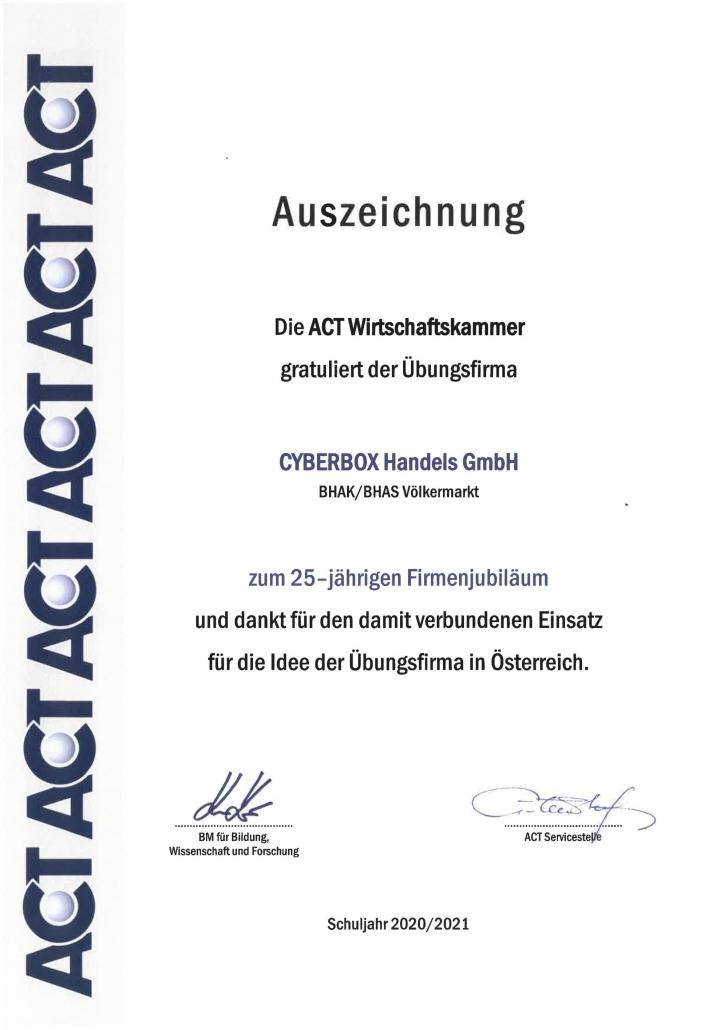 Auszeichnung-Firmenjubiläum-ACT_2021